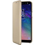 Samsung Galaxy A6 Wallet Cover zlaté