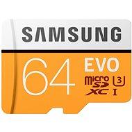Samsung MicroSDXC 64GB EVO UHS-I U3 + SD adaptér