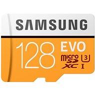 Samsung MicroSDXC 128GB EVO UHS-I U3 + SD adaptér
