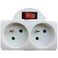 Solight 2x zásuvka bílá s vypínačem
