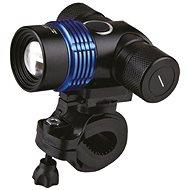 Solight nabíjecí LED Multifunkční cyklo svítilna 2v1, černo-modrá