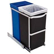 Simplehuman Vestavný koš na tříděný odpad 20/15l, lesklá ocel, plastový kbelík