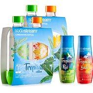 SodaStream Lahve Tropical Edition 2ks Ostrov + 2ks Prales + Příchutě Ananas-Kokos a Mango-Kokos