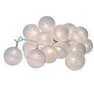Solight LED vánoční koule bavlněné