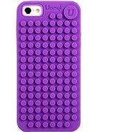 Pixelové pouzdro na iPhone 5 fialové