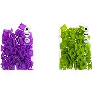 Pixely velké set, fialová-zelena