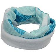 Šátek s fleecem modro bílý