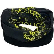 Šátek s fleecem černo zelený