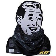 Šátek s fleecem černý