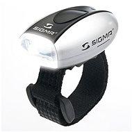 Sigma Micro stříbrná / přední světlo LED-bílá