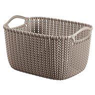 Curver Knit košík kulatý 8L hnědý