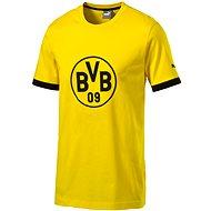 Puma BVB Badge Tee cyber yellow-bla M
