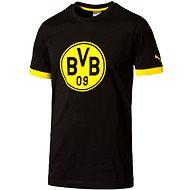 Puma BVB Badge Tee black-cyber yell XL