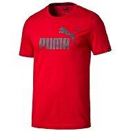 Puma ESS No.1 Tee Barbados Cherry XL