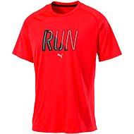 Puma Run S S Tee Red Blast M
