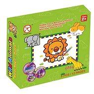 Vybarvovací puzzle zvířátka