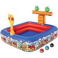 Nafukovací hrací centrum Angry birds s bazénem 147 x 147 x 91cm