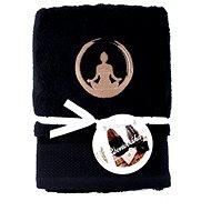 Sleep well 50 × 100cm/výšivka jóga - rovnováha/černý