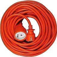 PremiumCord prodlužovací 20m 230V, oranžový