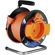 PremiumCord prodlužovací kabel 230V 25m buben, oranžový