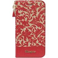Uunique flip Damask Folio iPhone 7/8 Red/Beige