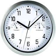 Nástěnné hodiny s teploměrem a vlhkoměrem