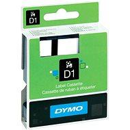Páska do štítkovače Dymo D1, S0720780, 6mm, bílá/černá