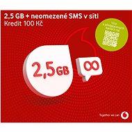 Vodafone neomezené volání a sms do sítě Vodafone + 500MB dat