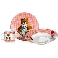 BANQUET Dětská 3 dílná sada Medvídci RED A11867