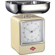 Wesco Retro kuchyňská váha s hodinami mandlová