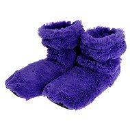 Hřejivé botičky - fialové
